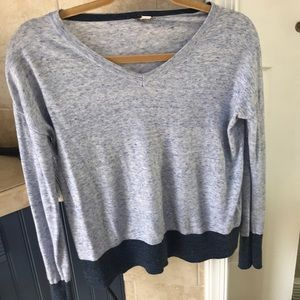 Gap baby blue and maybe v neck sweater